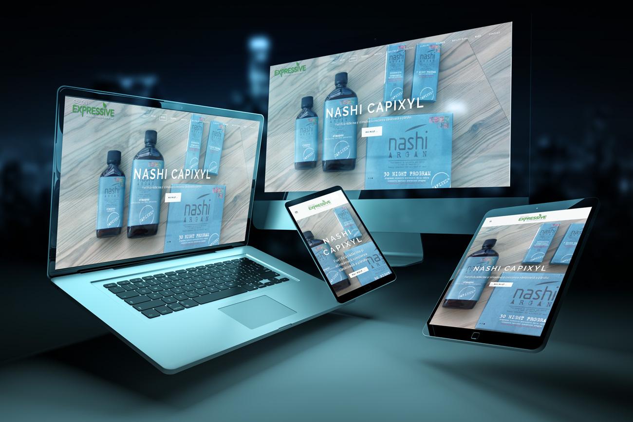 salon expressive website